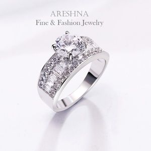 3ct Swarovski Diamond cz Ring